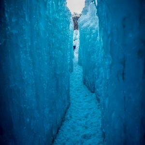 Ice Castle Passage Way, Midway, Utah