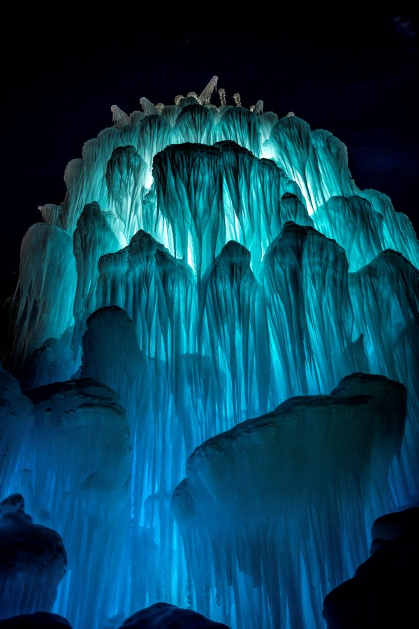 Ice Castle at Night 2, Midway, Utah