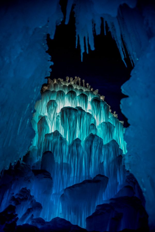 Ice Castle at Night, Midway, Utah_