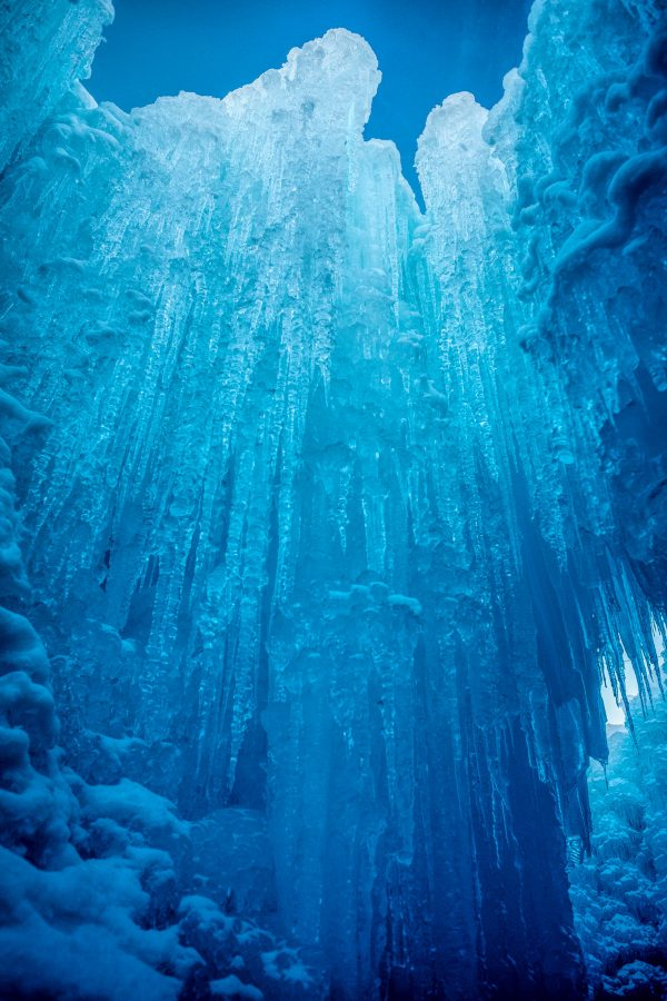 In the Ice Castle, Midway, Utah