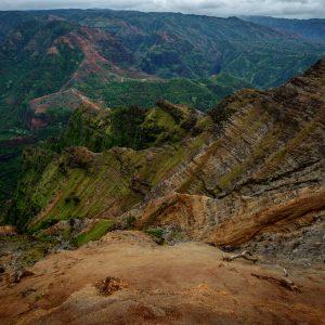 Into Waimea Canyon, Kauai, Hawaii