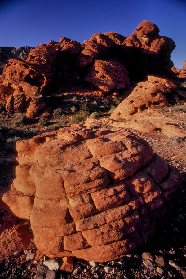 Layered Sandstone Boulder, Valley of Fire, Nevada