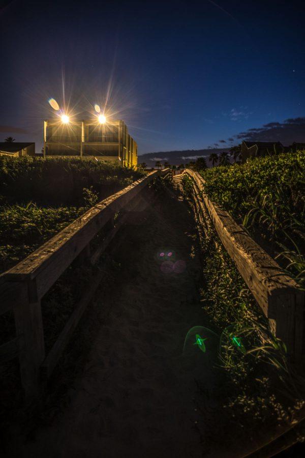 Lens Flare on the Sandy Walkway 2, Padre Island, Texas