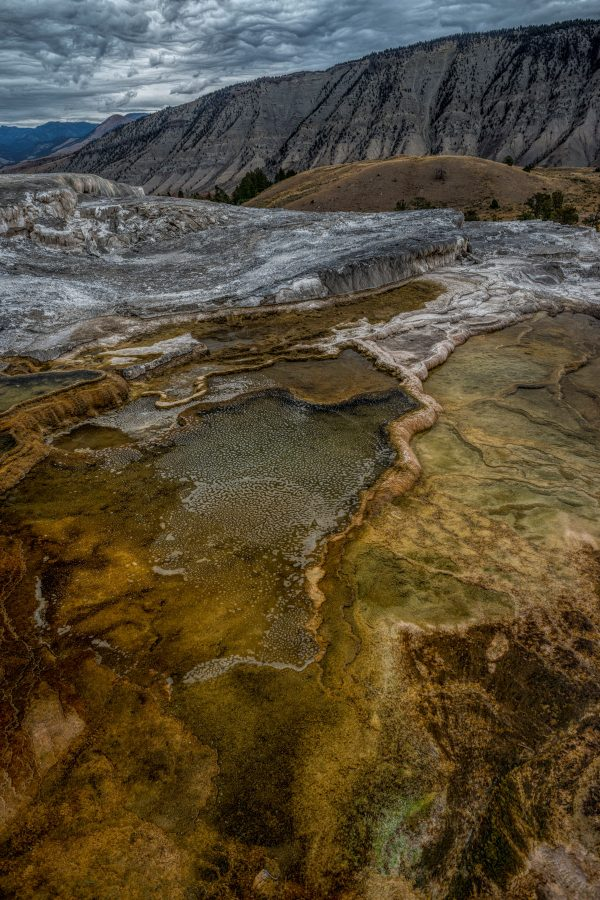 Mammoth Springs Caldera Formations, Yellowstone National Park, Wyoming
