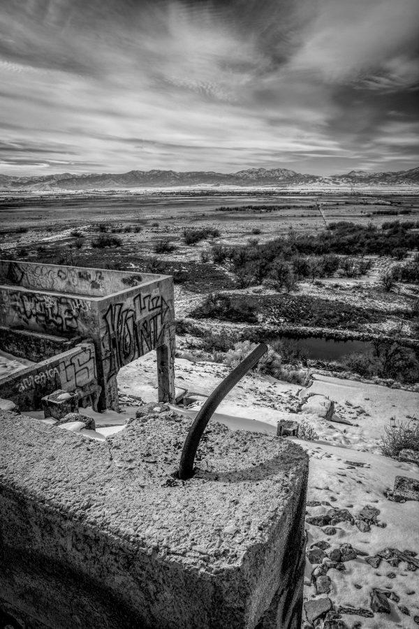 Metal Rod, Tintic Reduction Mine, Genola, Utah (bw)