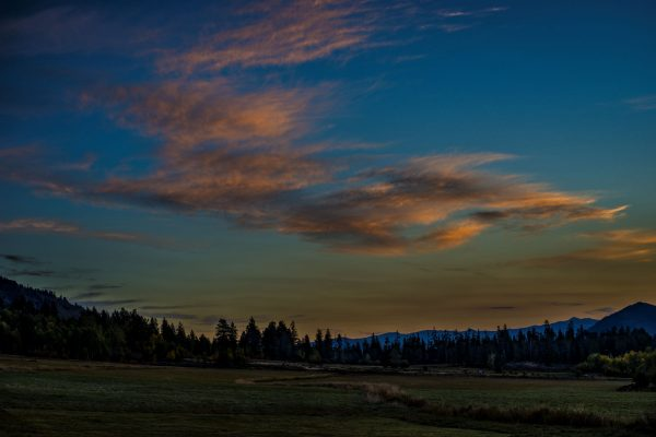 Morning Sky Over Trail Creek Ranch 2, Wilson, Wyoming