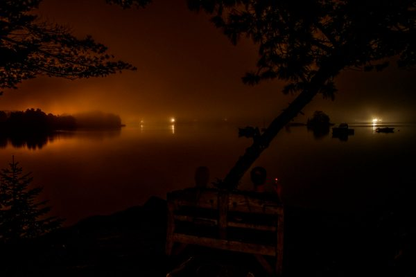 Nighttime on the Point, Blue Hill Bay, Maine