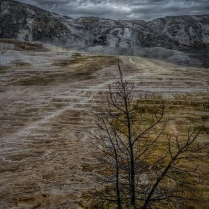 Ominous Clouds Over Mammoth Springs 3, Yellowstone National Park, Wyoming