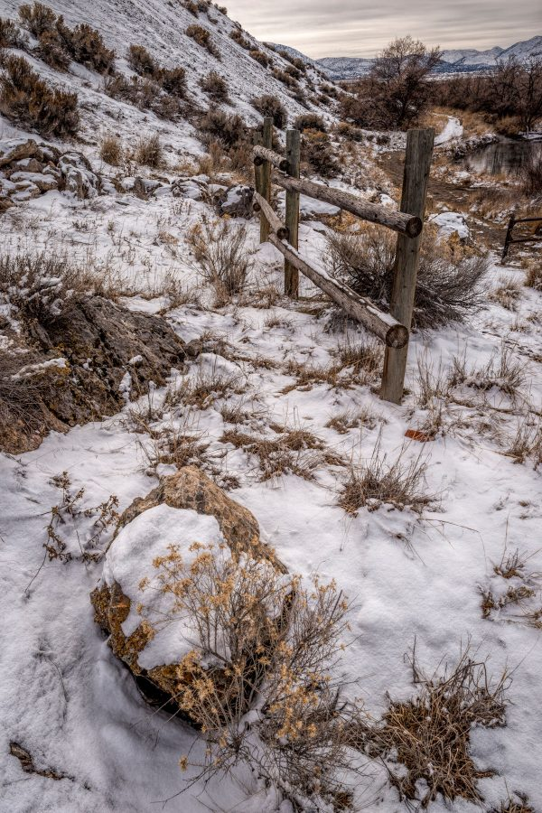 Rail Fence in Winter 2, Genola, Utah