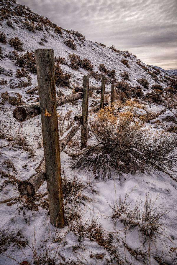 Rail Fence in Winter 3, Genola, Utah