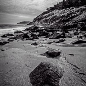 Rocky Shore at Low Tide, Acadia National Park, Maine