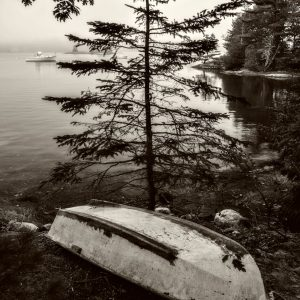 Rowboat on the Bank 2, Blue Hill Bay, Maine