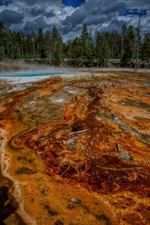 Sapphire Pool and Hot Spring, Yellowstone National Park, Wyoming