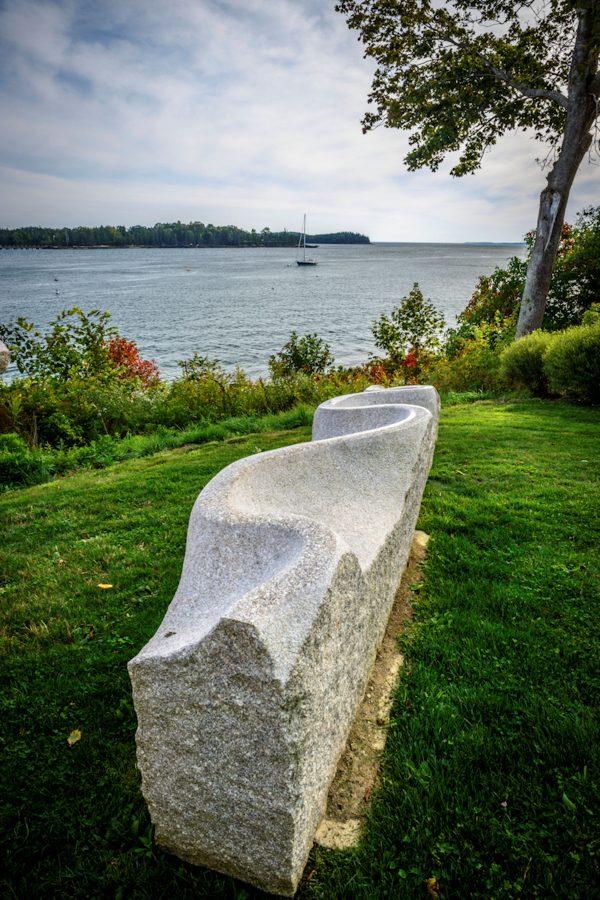 The Granite Bench, Castine, Maine