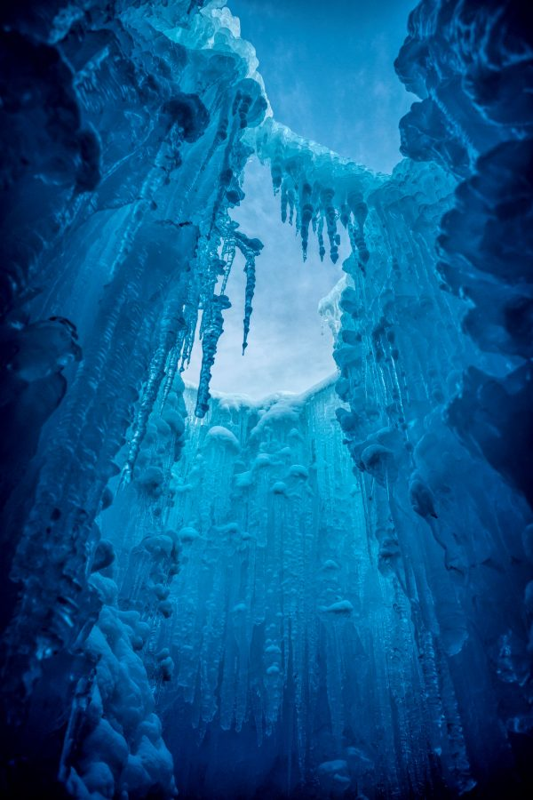 Up Through the Ice Castle, Midway, Utah_