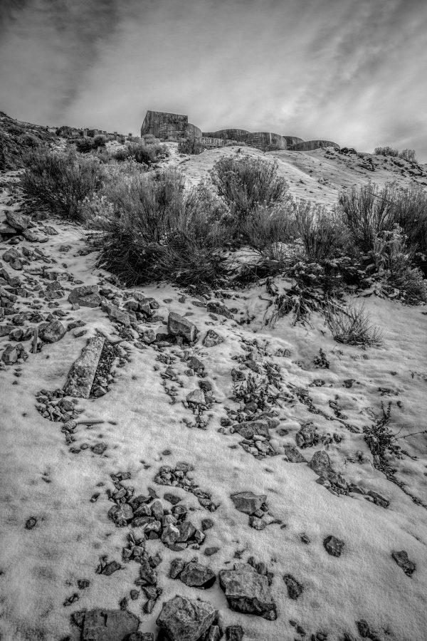 View of Tintic Reduction Mine, Genola, Utah (bw)