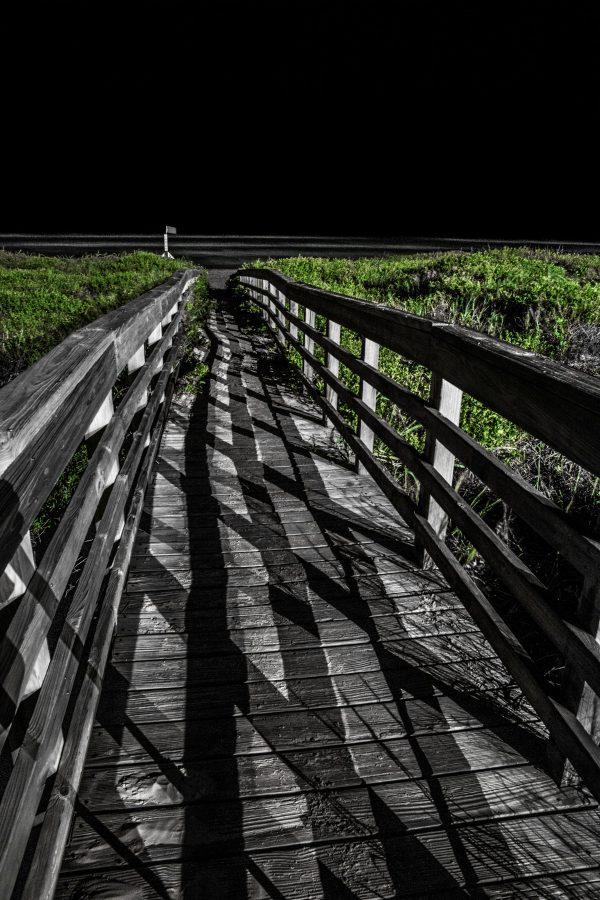 Walkway Bridge at Night 2, Padre Island, Texas