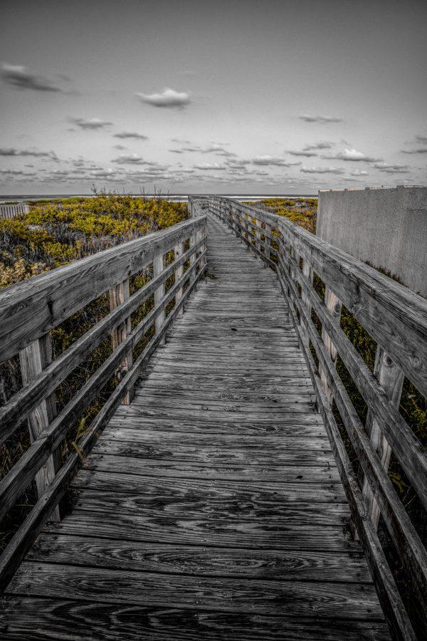 Walkway Bridge to the Beach 3, Padre Island, Texas