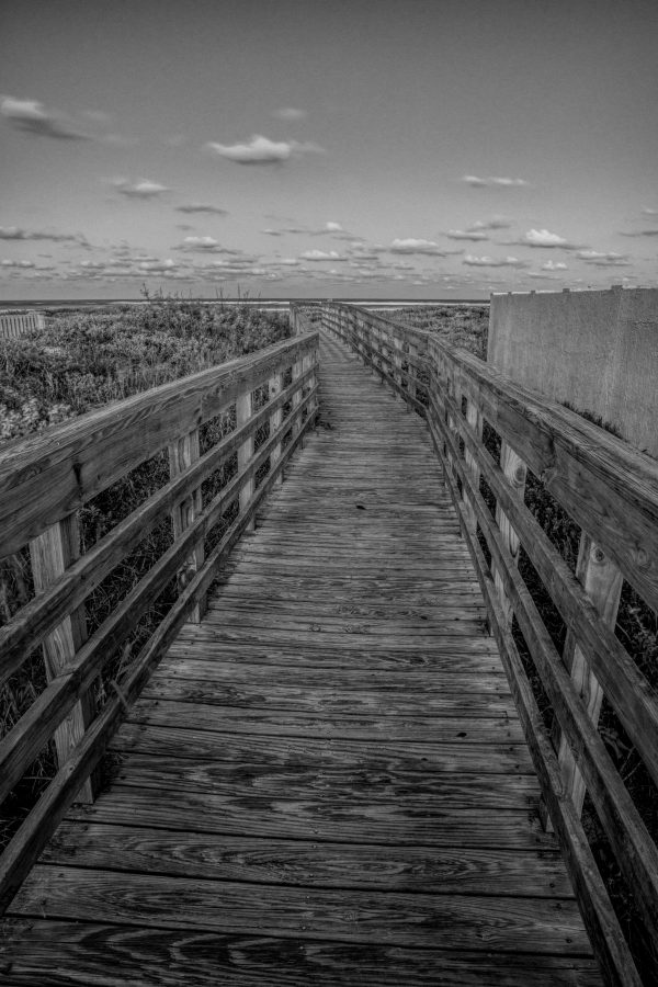 Walkway Bridge to the Beach, Padre Island, Texas