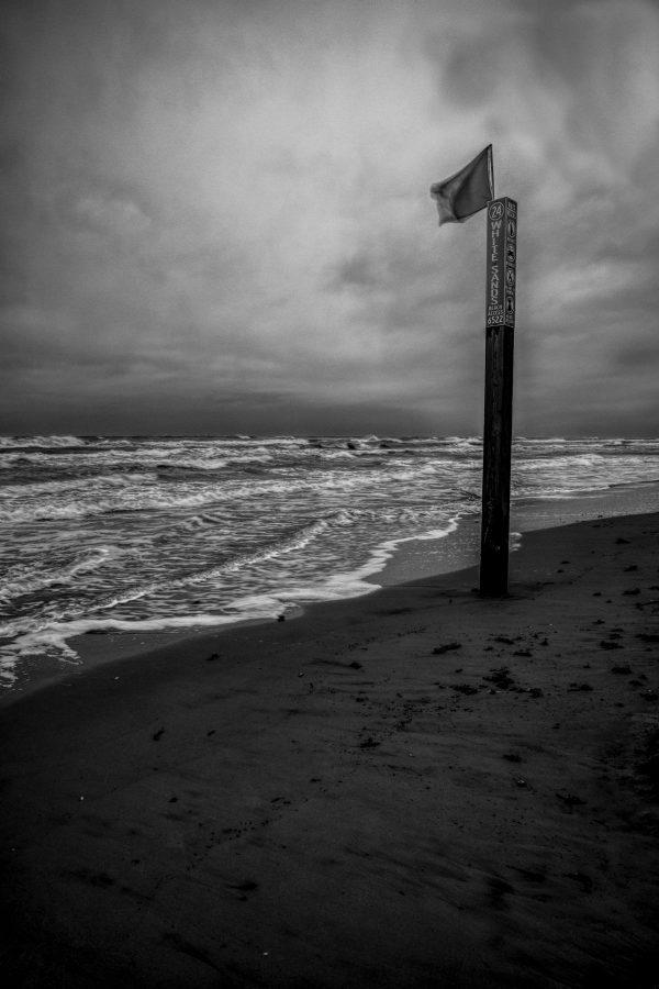 White Sands Beach Marker 3, Padre Island, Texas