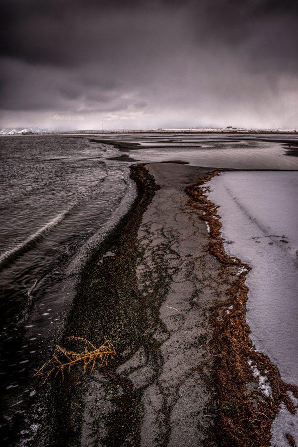 Winter Shoreline, Great Salt Lake, Utah