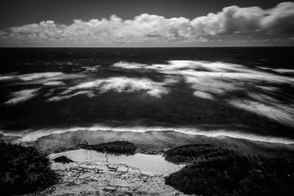 A View of Shipwreck Beach, Kauai, Hawaii #2 (bw)