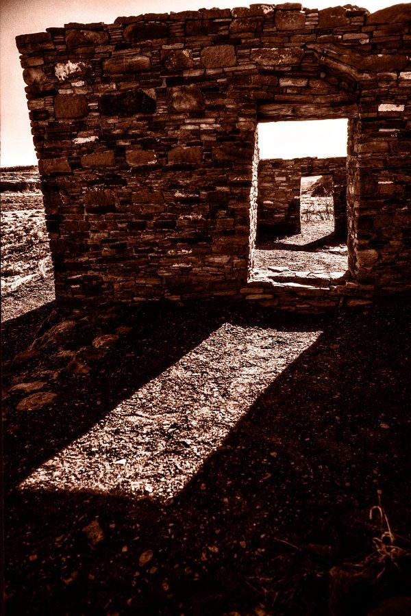 Casa Rinconada Doorway Sunlight 3, Chaco Canyon, NM