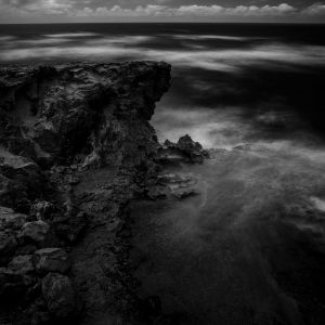 Cliffs Near Shipwreck Beach, Kauai, Hawaii bw
