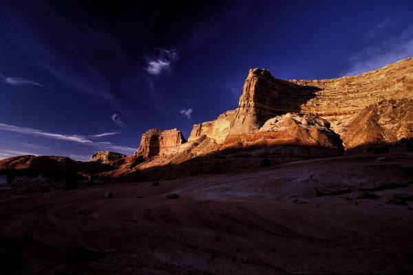 Cliffs at Sunrise, Lake Powell, Utah