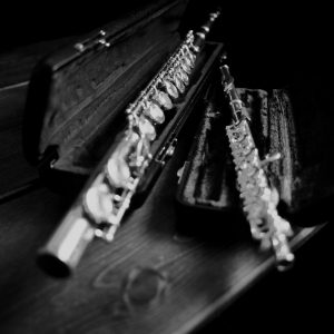 Flute and Piccolo, Black & White