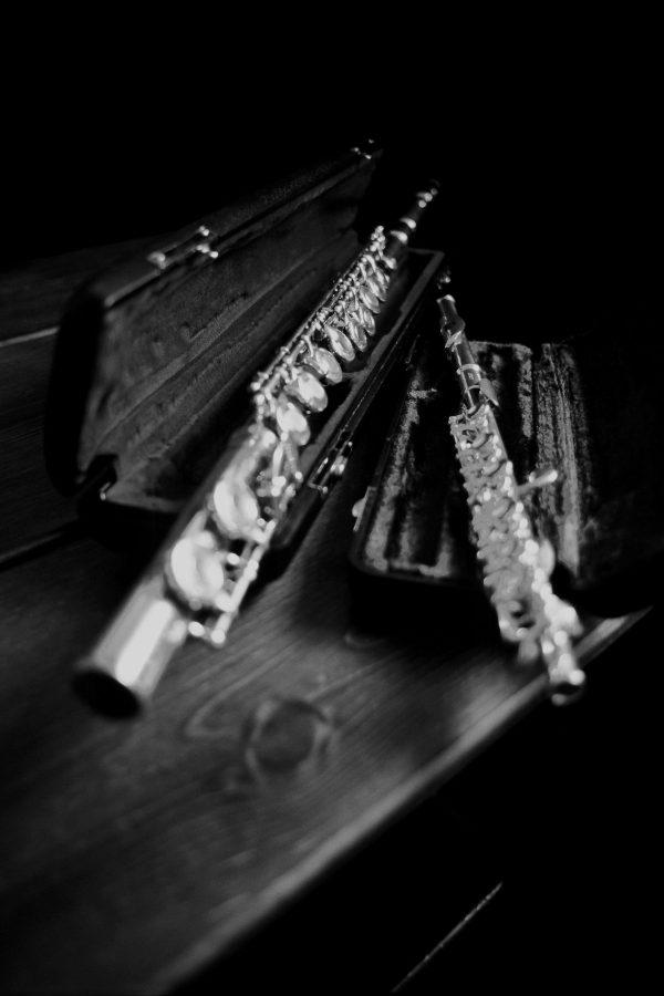 Flute and Piccolo, Black & White