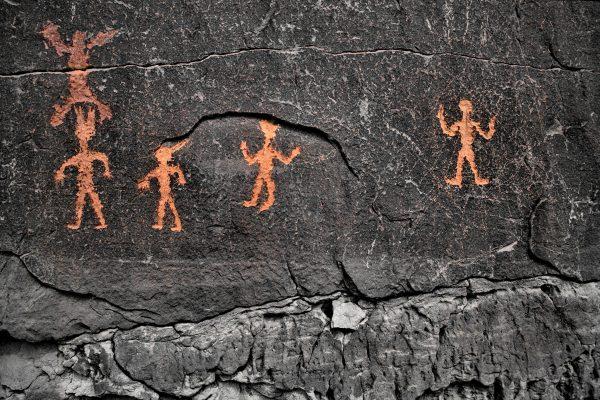Petroglyphs Near Casa Chiquita 4, Chaco Canyon, NM
