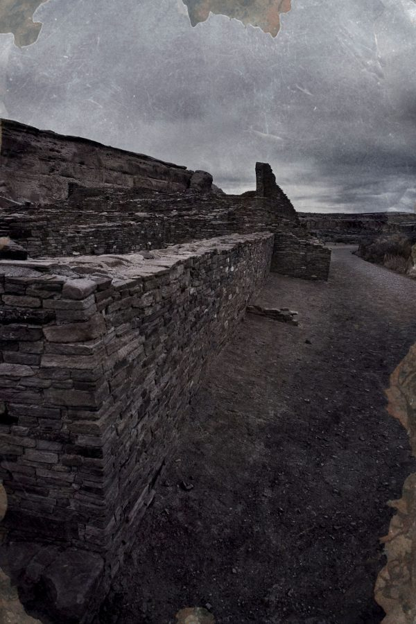South Wall of Pueblo Bonito 2, Chaco Canyon, NM