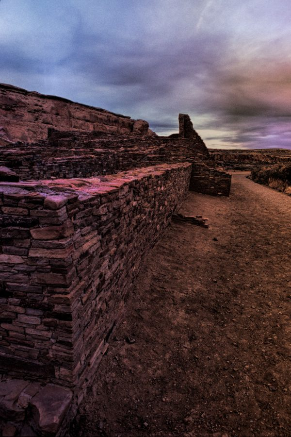 South Wall of Pueblo Bonito 3, Chaco Canyon, NM