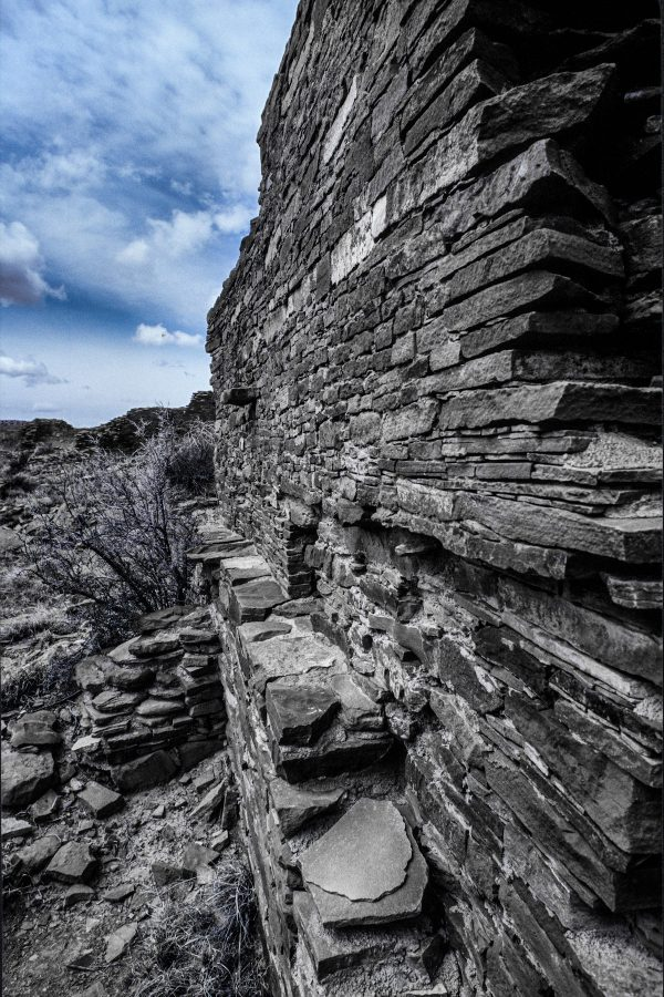 Stonework of Hungo Pavi # 3, Chaco Canyon, NM